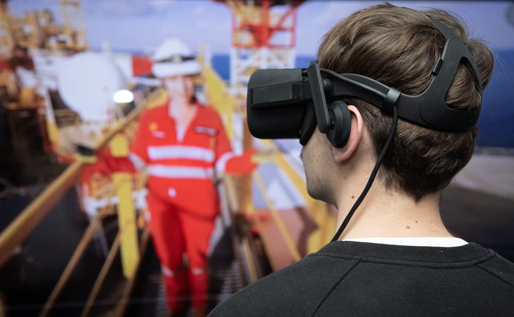 vr training on a mine site