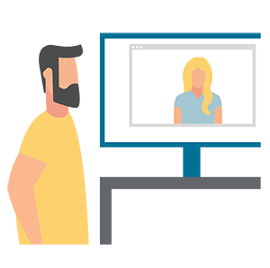 illustration showing trainer support
